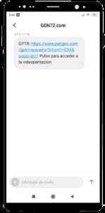 videoperitacion siniestros mensaje sms